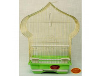 Золотая клетка, Средняя Фигурная крыша для птиц,золото  (40х23х50 см.)